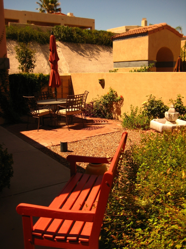 Patio at Kachina Hills Gated Townhomes Community