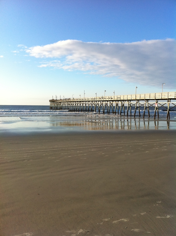 Fishing on the pier in Sunset Beach North Carolina