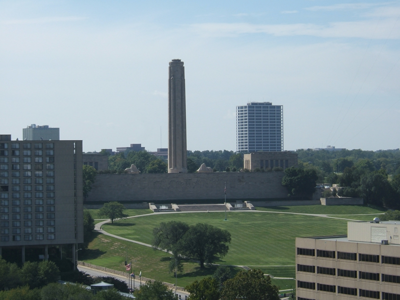 Liberty Memorial seen from roof of Western Auto condos