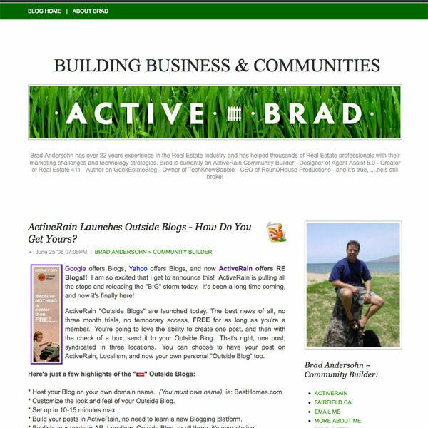 Active Brads Outside Blog