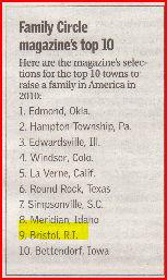 Family Circle magazine's top ten