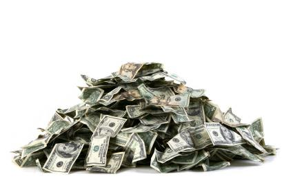 Pile of money you could earn from home stager referrals