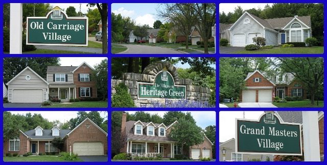 Heritage Green patio home community of Loveland Ohio