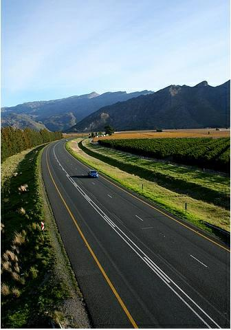 Desert Highway, Utah, USA. Follow the long highway over the plain ...