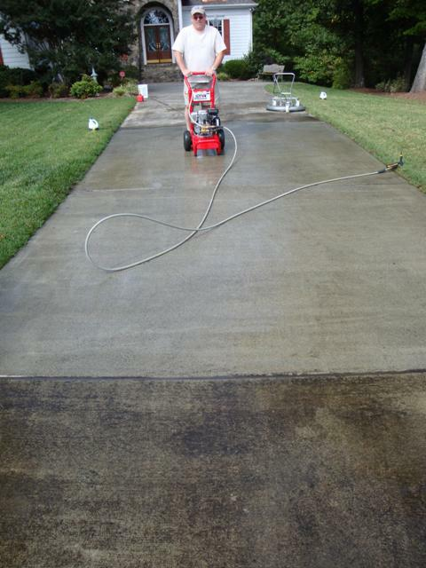 Dirty driveway clean it up with happy trails concrete for How to clean dirty concrete