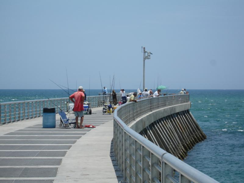 Fishing from the Jetty - Sebastian Inlet