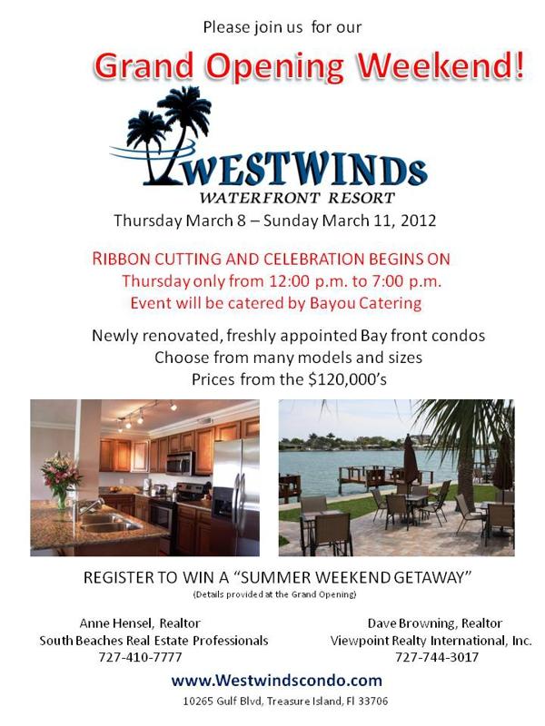 Westwinds Condos on Treasure Island Florida   10265 Gulf Blvd