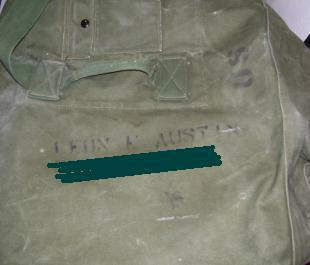 Army duffel bags: an invitation for identity theft.