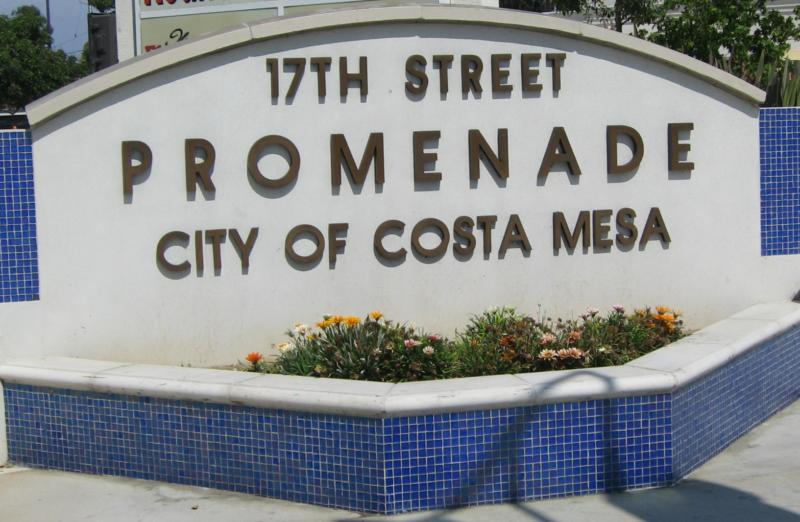 17th Street Costa Mesa shopping