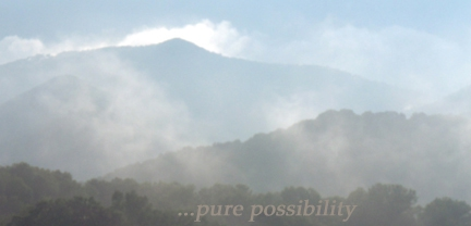 mountain mists in Asheville