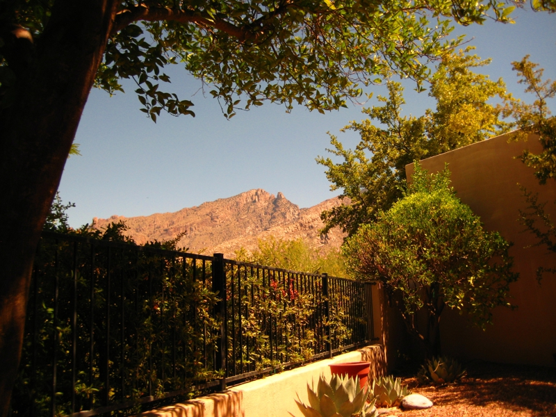 Mountain view patio at Kachina Hills Gated Townhomes Community
