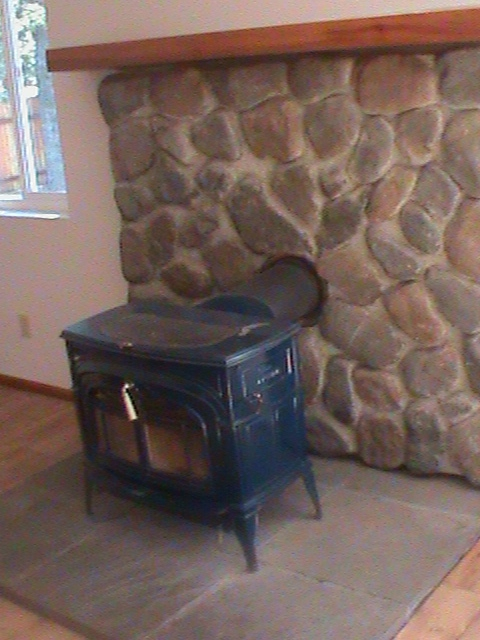 Loomis home with wood burning fireplace