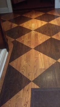 Another Really Cool Hardwood Floor Stenciled Design