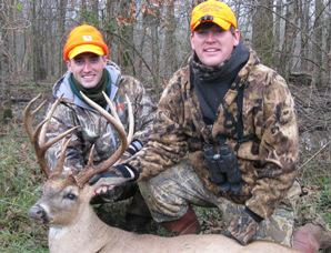 Jonathan and Chris with big buck at Foothills