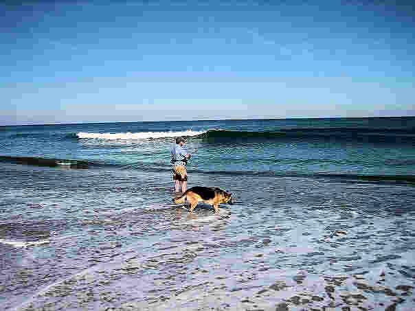 ilse on beach
