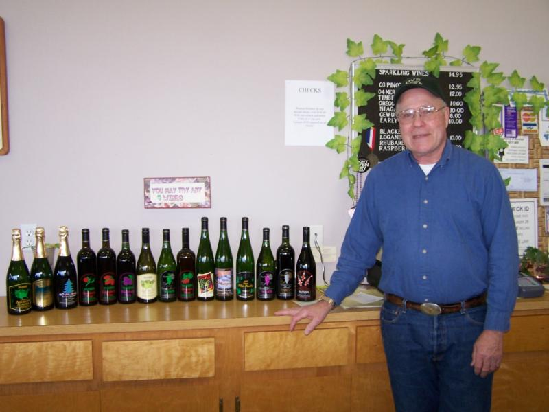 Jim Wasson and his famous wines