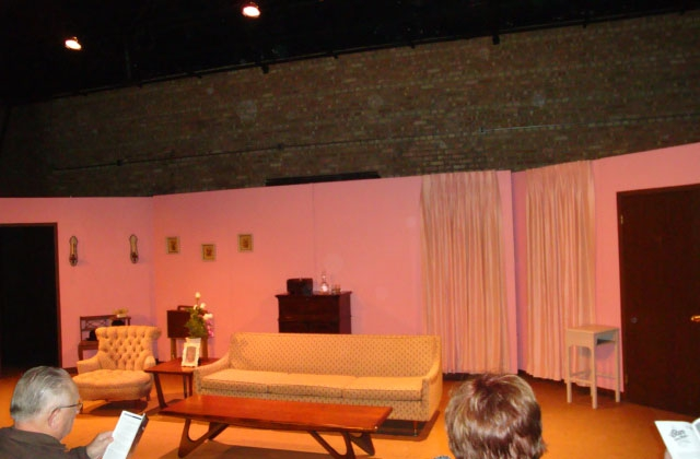 Towle Theatre in Hammond, IN - Set for Ruthless for Act 1