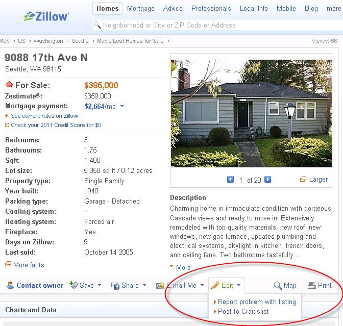 Post properties from Zillow to Craigslist