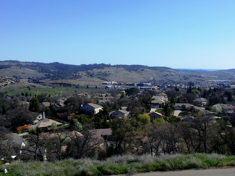 From Ridgeview Drive and Wilson Blvd overlooking El Dorado Hills.
