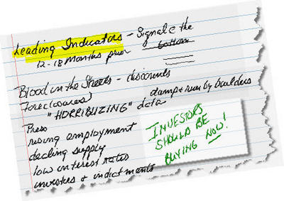 Leading Indicators ~ notes from class