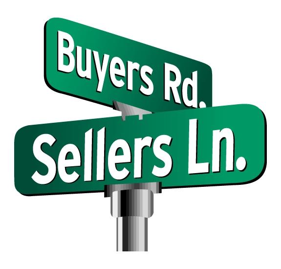 Buyer Road, Seller Lane road sign