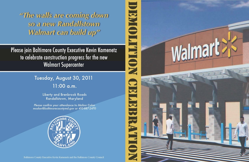 Randallstown New Walmart  HomeRome 410-530-2400