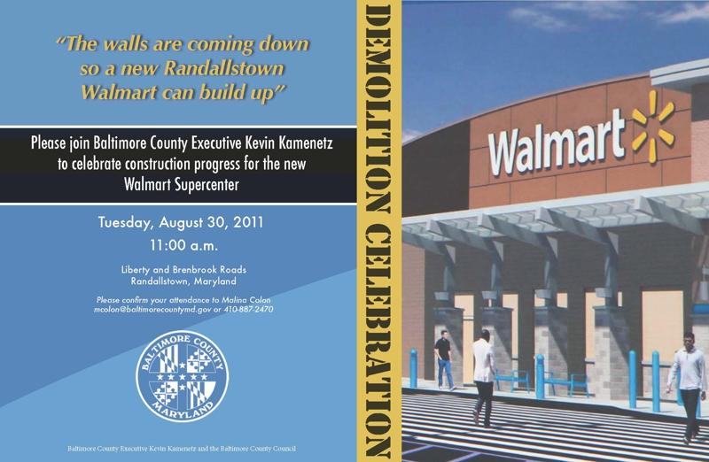 Randallstown New Walmart  HomeRome 410-530-2400