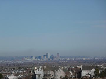Downtown Denver view from Kentley Hills in Highlands Ranch