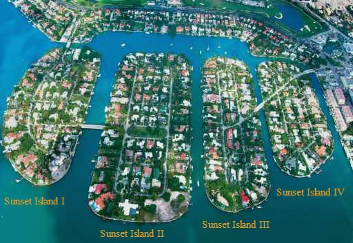 Sunset Islands Homes and Real Estate in Miami Beach