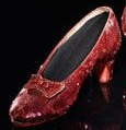 Ginny Gorman's sparkly red shoe