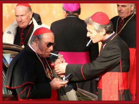 smoking cardinals at the vatican