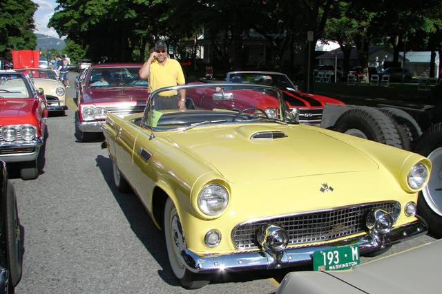 Tim Jank and 1955 T-Bird - Car d'Lane