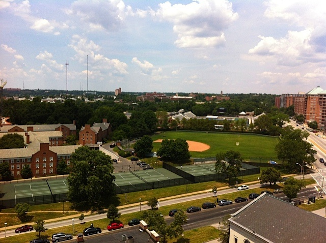 View of Johns Hopkins baseball field Baltimore MD