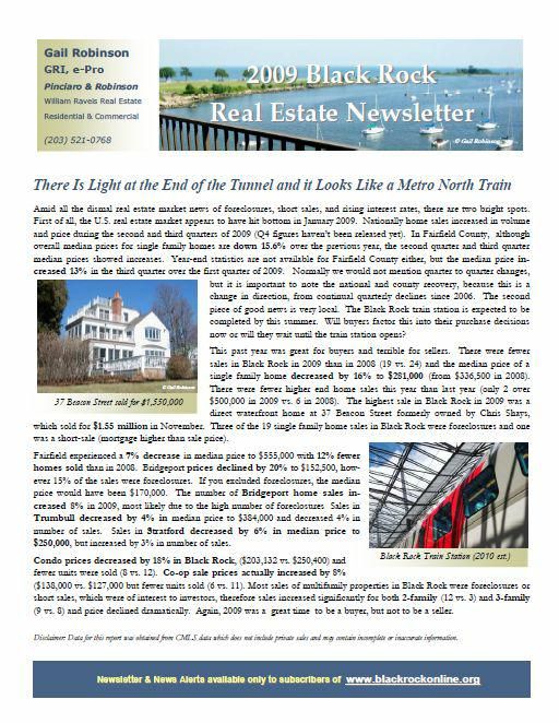 2009 Black Rock Real Estate Newsletter