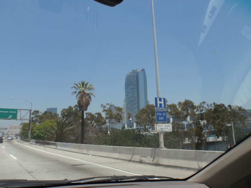 downtown Los Angeles from the 110 Freeway