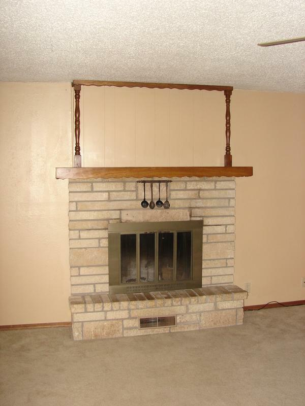 Brick Fireplace Clean Up