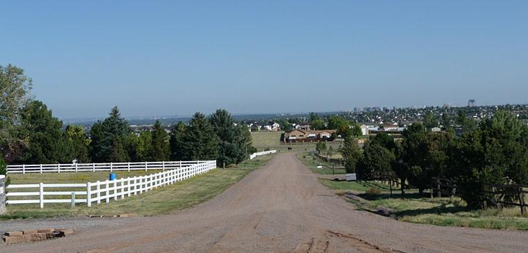 Views from a Home and horse property at McArthur Ranch in Littleton Colorado