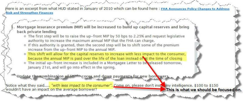 fha loans mortgage insurance being twisted as less of an impact to borrowers