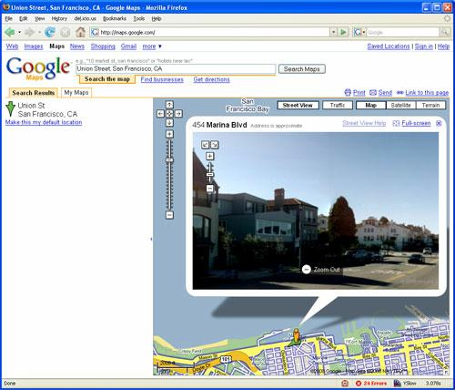 See if Street View is available for your location
