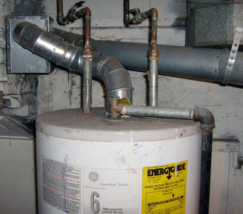 . Gas Water Heater Vent Pipe   Hood Installation