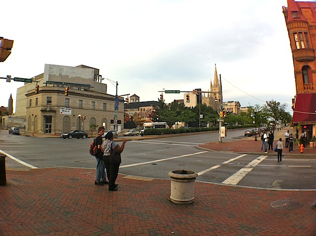 Corner of Charles St and North Ave in Baltimore MD