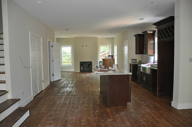 Atlanta Home Staging Kitchen Living Room Before Picture