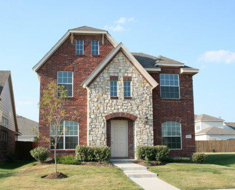Stone Front Homes fort worth real estate - two story rear-entry brick and stone
