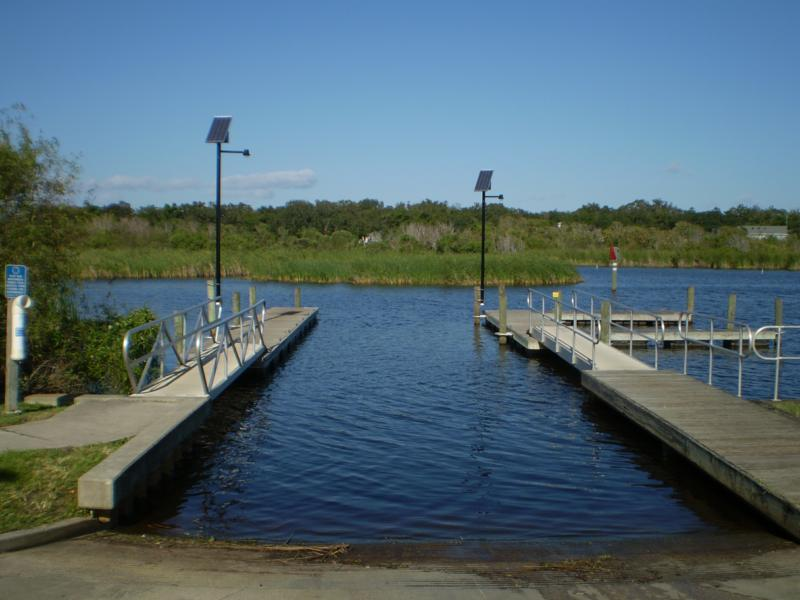 Turkey Creek boat ramps in Palm Bay Florida