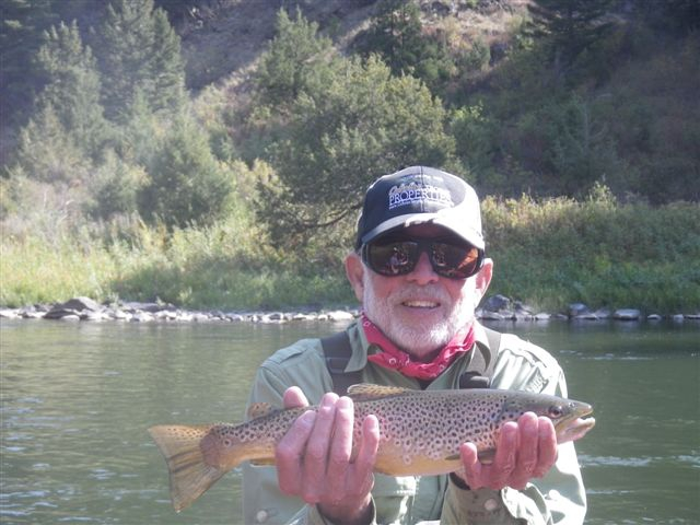 Bill Mercer fishing in the Beartrap Canyon Ennis MT