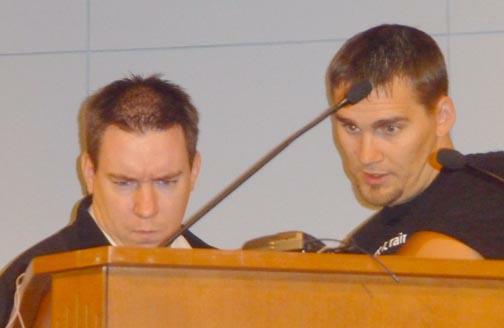 Ben and Bob - so serious!