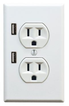 Electrical Outlet with 2 USB Chargers