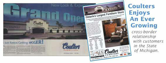 store, couter's, furnture, ad