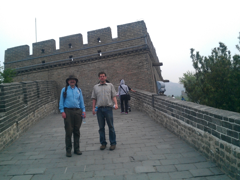 Randall and Jesse -- Great Wall of China
