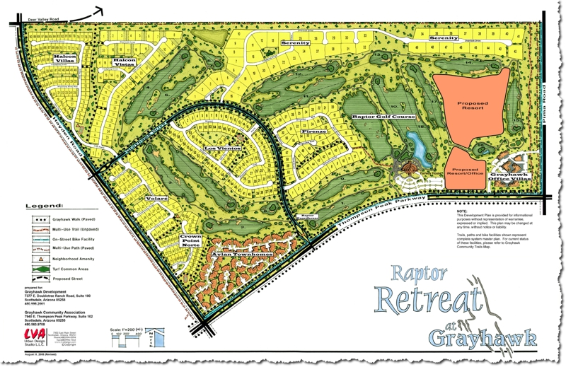 Grayhawk Mark Taylor Raptor retreat map